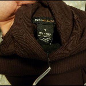 BCBG Max Azria Brown Sweater Dress